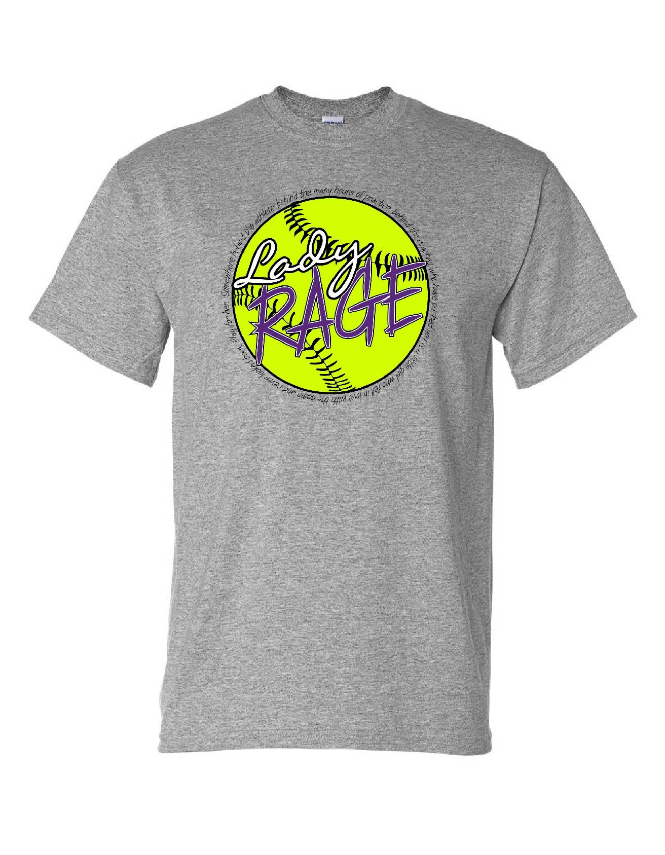 lady rage sports grey tee adrenaline apparel design. Black Bedroom Furniture Sets. Home Design Ideas