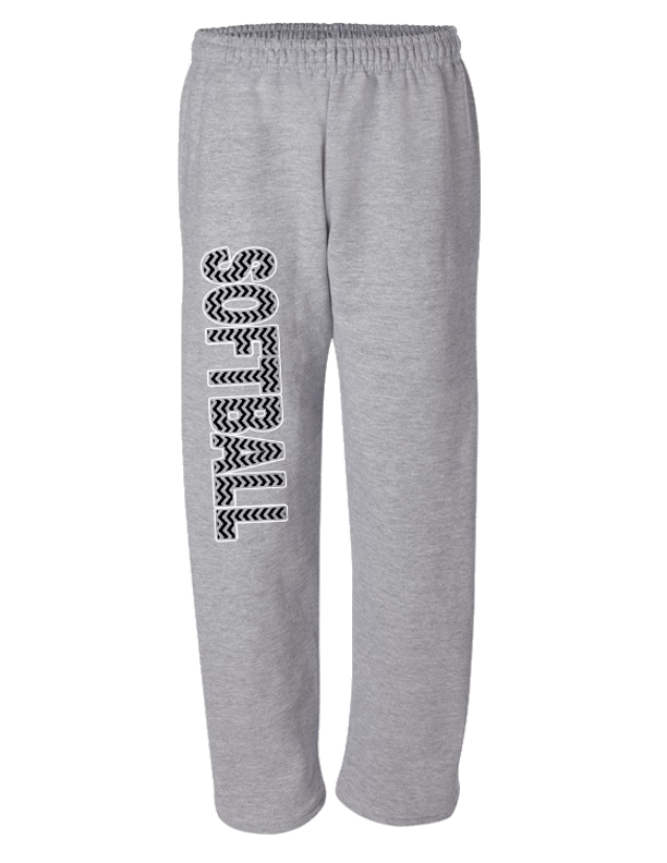 sweatpants-softball printed-grey