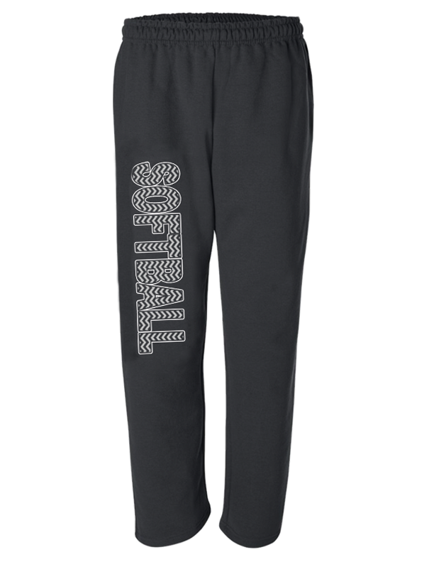 sweatpants-softball-printed new