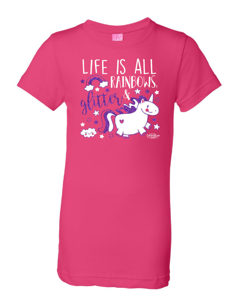 life is all� unicorns tee adrenaline apparel amp design