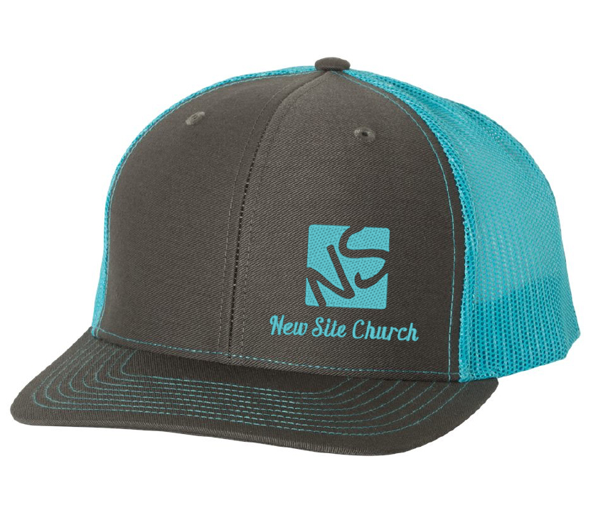 New Site Richardson charcoal-neon blue cap